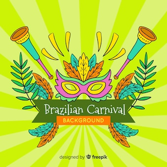 Sunburst brazilian carnival background