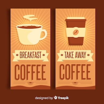 Sunburst coffee banner