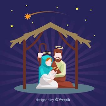 Sunburst nativity background