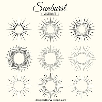 Sunburst ornaments