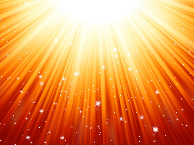 Sunburst rays of sunlight tenplate.