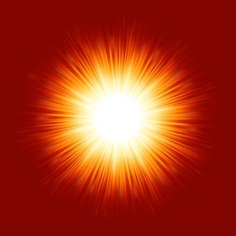 Sunburst rays of sunlight.