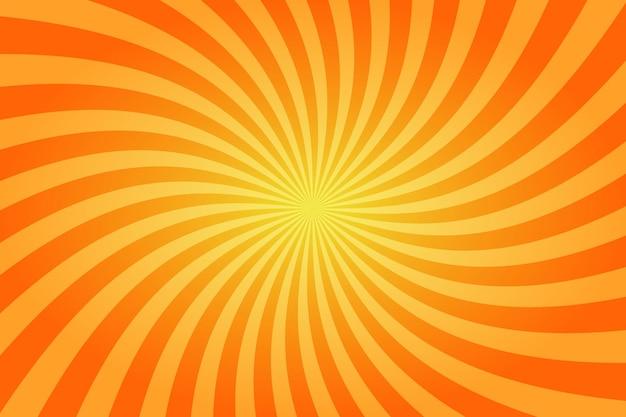 サンバーストレトロ太陽光線黄色の背景