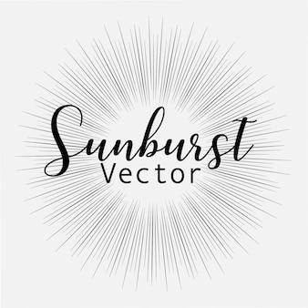 Sunburst style isolated on white background