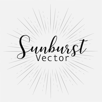 Sunburst style