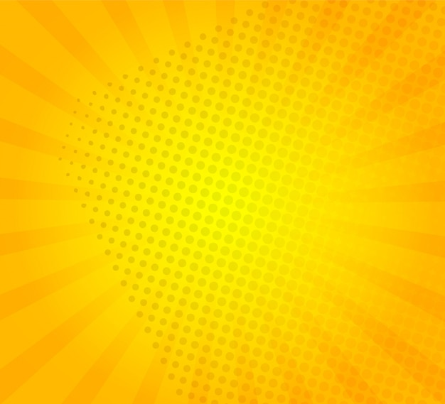 Sunburst on yellow background with dots template.