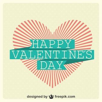 Дизайн день карты вектор sunburst сердцу валентина