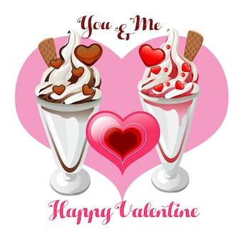 Валентинка sundae пара