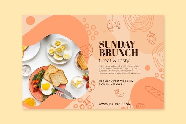 Modello di banner per il brunch della domenica