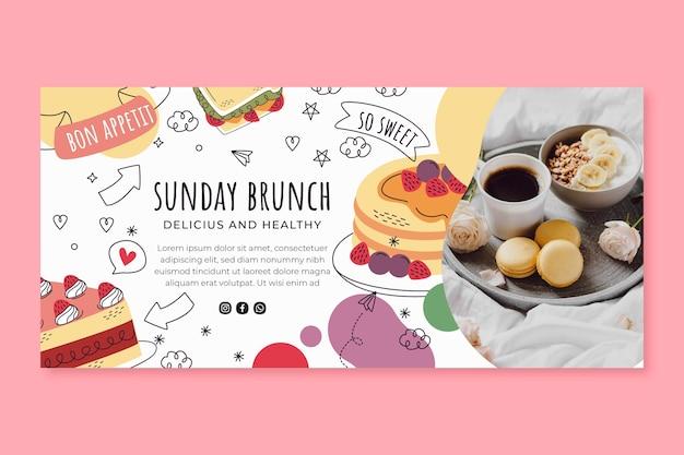 Sunday brunch banner template