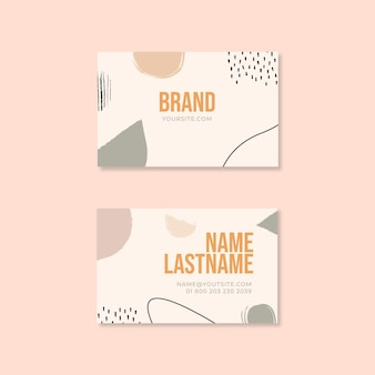 Sunday brunch food restaurant horizontal business card
