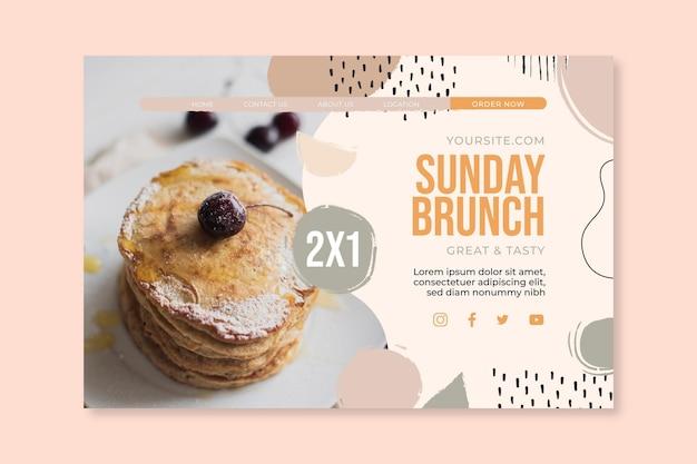 Sunday brunch food restaurant landing page