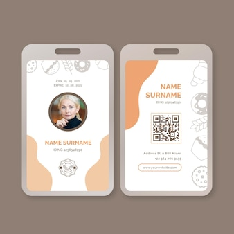 Modello di carta d'identità per il brunch domenicale