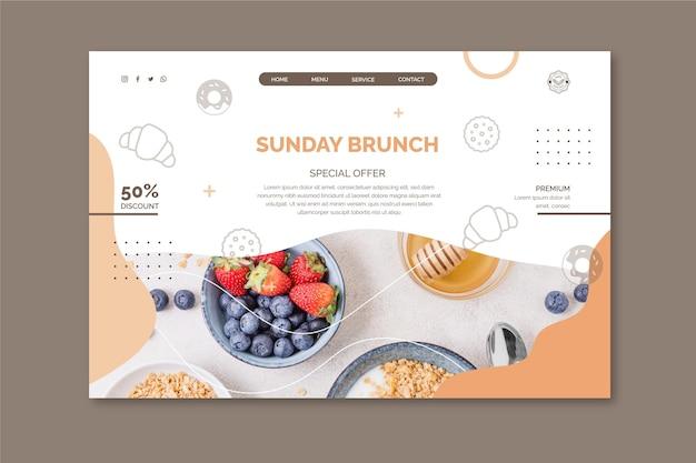 Modello di pagina di destinazione del brunch domenicale
