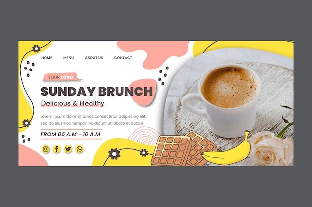 Pagina di destinazione del brunch della domenica