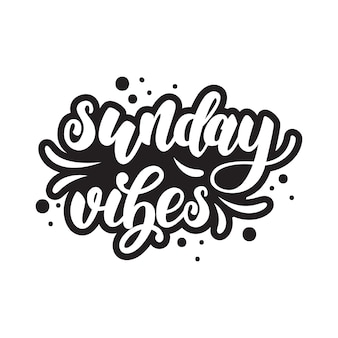 Sunday lettering poster