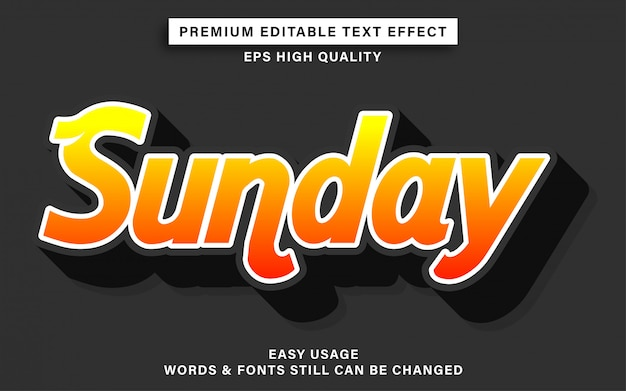 Sunday style text effect