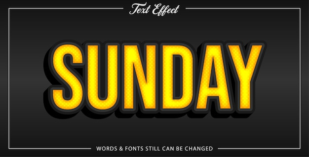 Sunday text effect