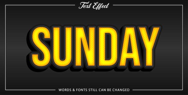 Sunday text effect Premium Vector