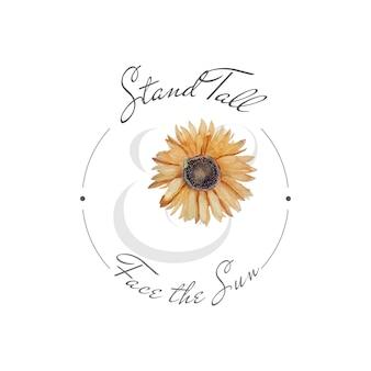 Sunflower blossom badge