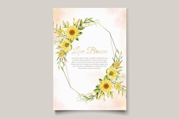 ひまわり花の招待カードセット