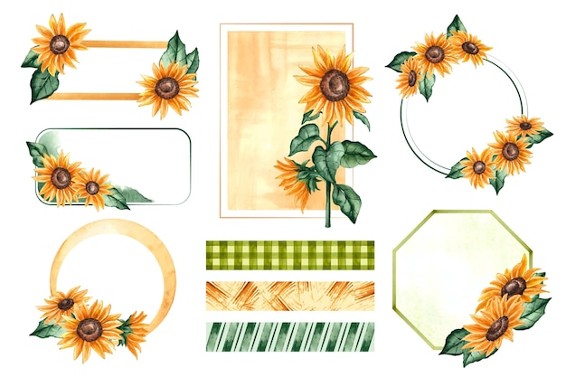 Sunflower frames and scrapbook