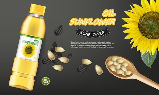 Sunflower seeds oil banner