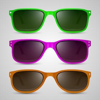 선글라스 색상 개체입니다. 벡터 일러스트 레이 션 아트 10eps