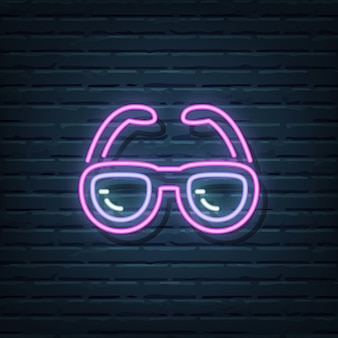 Sunglasses neon sign  elements