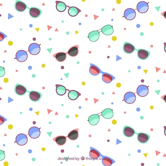 Sunglasses pattern with geometric shapes
