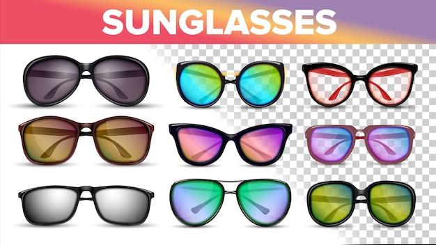 Солнцезащитные очки различных стилей и типов