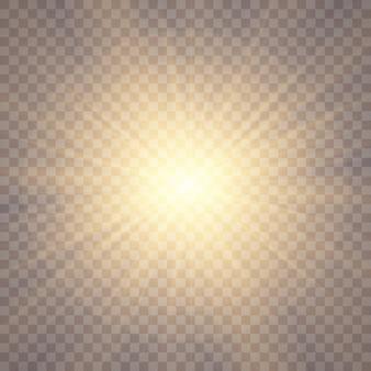 Sunlight background. glow light effects. sun glare.