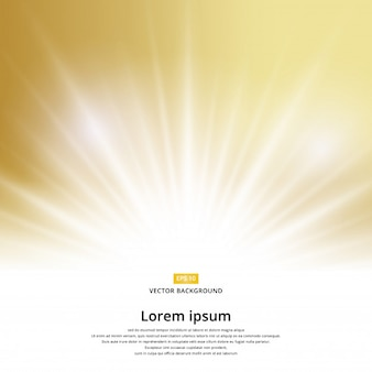 Sunlight effect sparkle on gold background with copy space.