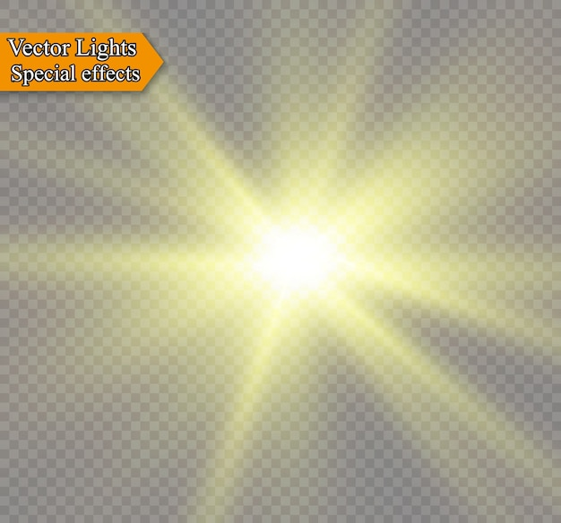 白い背景のイラストに日光