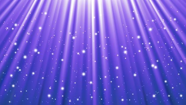 Фон лучей солнечного света со световыми эффектами. голубой фон с сияющим светом. векторная иллюстрация