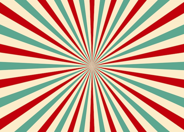 Sunlight retro ray sunburst background. old starburst. circus style