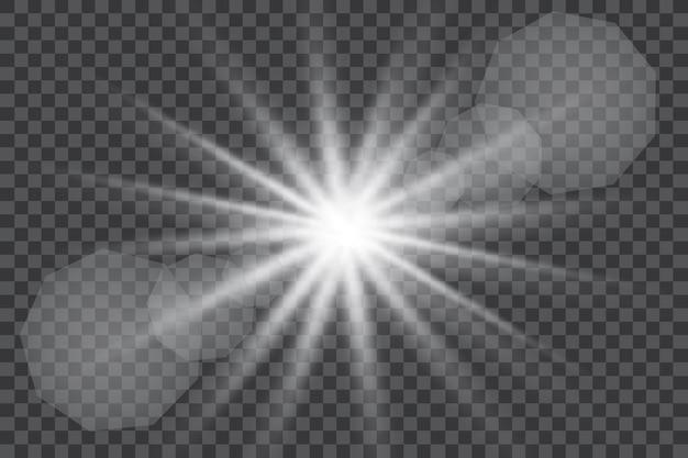 日光特殊レンズフレアライト効果イラスト