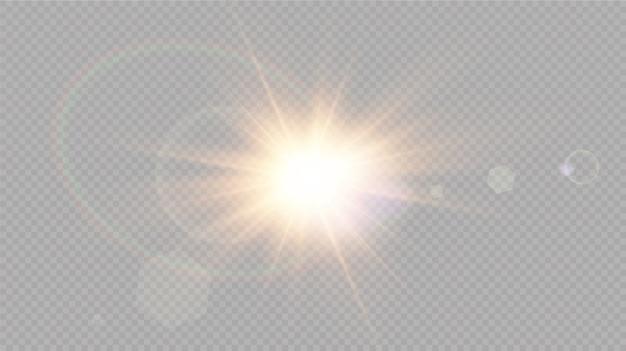 日光特殊レンズフレアライト効果