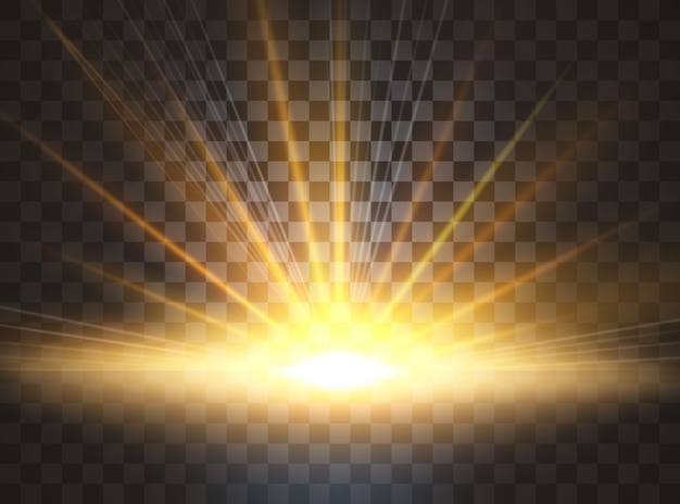 Солнечный свет. специальный световой эффект бликов.