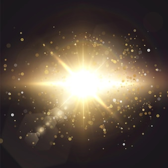 Солнечный свет специальные линзы блики световой эффект.