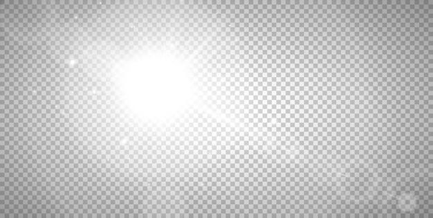 日光特殊レンズフラッシュライト効果