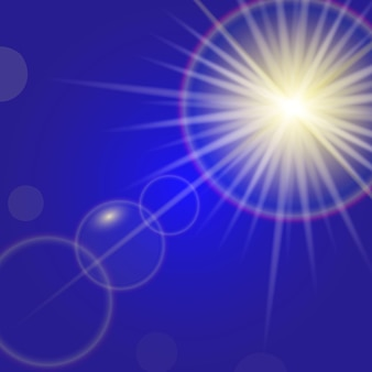 Sunlight with lens flare effect background