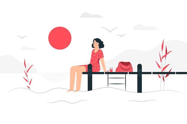 Sunny day illustration concept