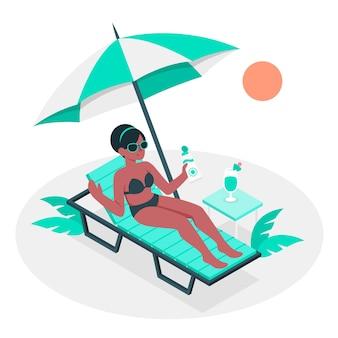 Concetto di illustrazione giornata di sole
