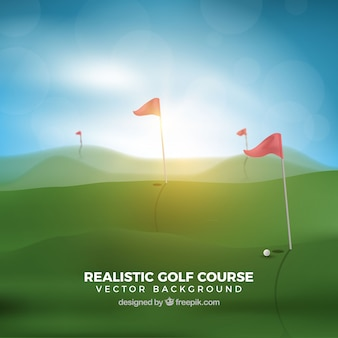 Sunny golf course background