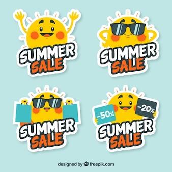 夏の販売のためのサニーラベル