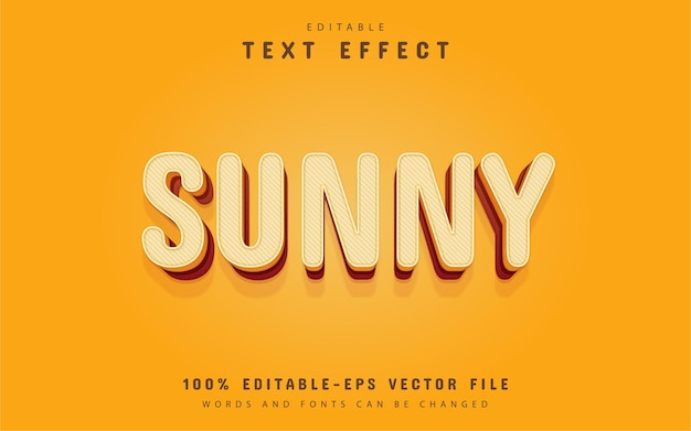 Sunny text, 3d yellow text effect