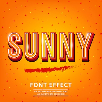 Sunny vintage 3d premium rich textured text effect