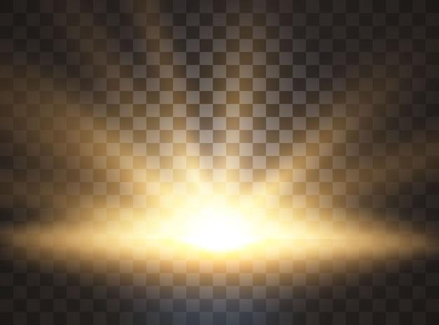 Sunrise, dawn. sunlight. special lens flare light effect.