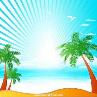 Sunrise in a tropical beach
